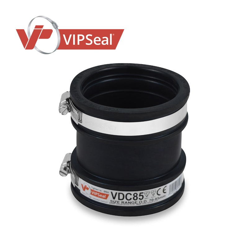 Video of VIPSeal Rubber Flexible Drain Coupling 70-85mm