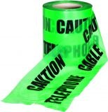 Underground Caution Warning Tape Green Telephone Line - 150mm x 365m