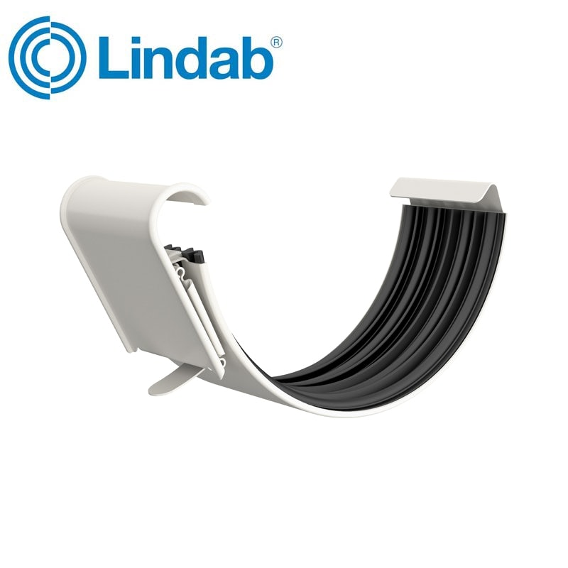 Lindab Half Round Gutter Joint 125mm Painted Antique White
