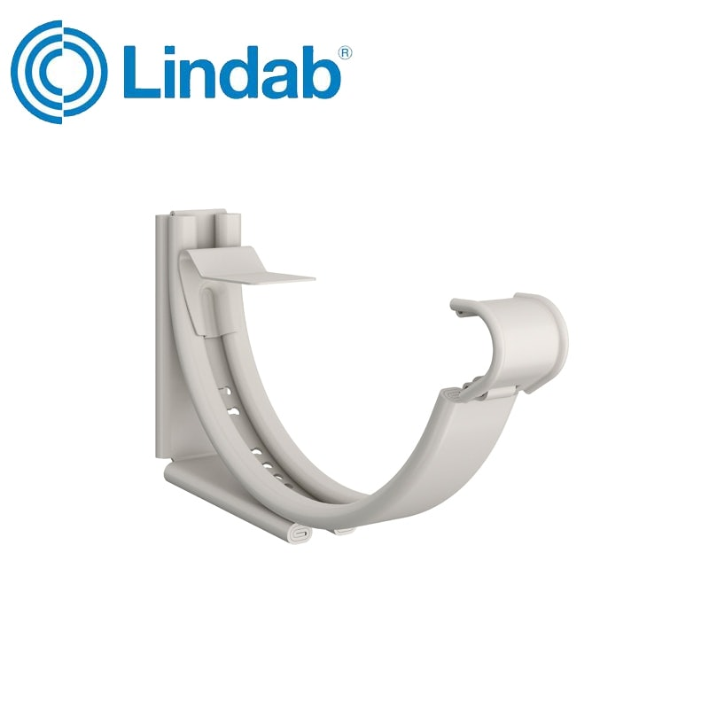Lindab Round Adjustable Snap-On Bracket 150mm Painted White