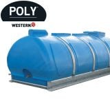 Water Storage Tank Bowser 2700L Plastic Portable Skid Mounted - POLY