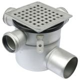Shower Drain Adjustable Gully Stainless Steel 50mm Inlets - 110mm