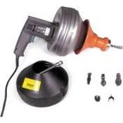 Drain Cleaner Unblocker Wire Spring Super Vee 110V with 2 Cables
