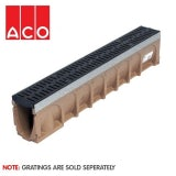 ACO MultiDrain M100D Sloped Channel Drain - 135mm x 210/215mm x 1000mm
