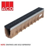 ACO MultiDrain M100D Sloped Channel Drain - 135mm x 185/190mm x 1000mm