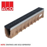 ACO MultiDrain M100D Sloped Channel Drain - 135mm x 240/245mm x 1000mm
