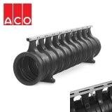 ACO Qmax 350 Slot Channel with Q-Flow Steel Edge Rail 2m