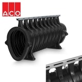 ACO Qmax 550 Slot Channel with Q-Flow Steel Edge Rail 2m