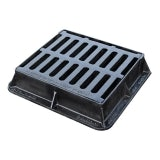 Hinged Cast Iron Gully Grid Cover 435L x 380W x 100H - D400 Loading