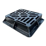 Cast Iron Gully Grid Tri-Cover 435L x 380W x 100H - D400 Loading