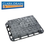 Clark Drain D400 Class Cast Iron Manhole Cover and Frame - 600 x 450 x 100mm