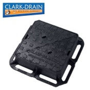Clark Drain D400 Class Cast Iron Manhole Cover and Frame - 300 x 300 x 100mm
