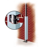 Galvanised Rainwater Downpipe Protector 150mm x 155mm x 2.4m