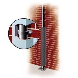 Galvanised Downpipe Protector 90mm x 100mm x 2.8m - Grey Brown