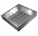 EcoGrid Aluminium Double-Seal Recess Manhole Cover - 600 x 600 x 68mm