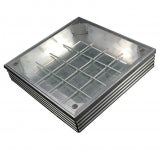 EcoGrid Aluminium Triple-Seal Recess Manhole Cover - 300 x 300 x 41mm