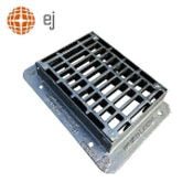 Cast Iron Reversible End Hinged Gully Grating & Frame 500 x 350mm D400