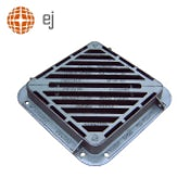 Cast Iron Double Triangular Gully Grating and Frame 600 x 600mm - D400