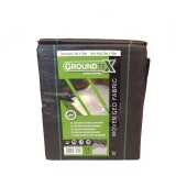 GROUNDTEX Woven Geotextile Weed Barrier & Ground Stabiliser - 2m x 10m