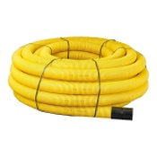 Single Wall Permeable Perforated Gas Ducting Coil 60mm x 50m Yellow