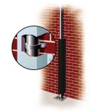 Galvanised Downpipe Protector 50mm x 50mm x 2.4m - Black
