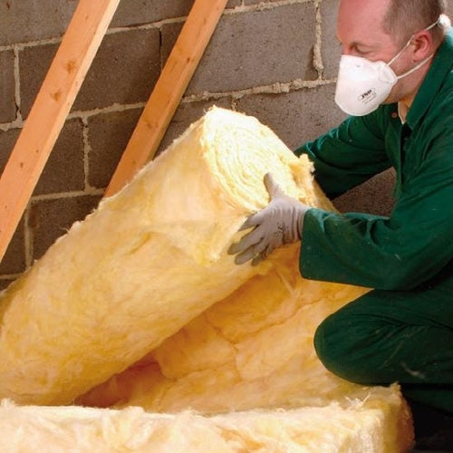Isover Spacesaver Loft Roll Insulation Glass Wool 150mm - 6.99m2 Roll