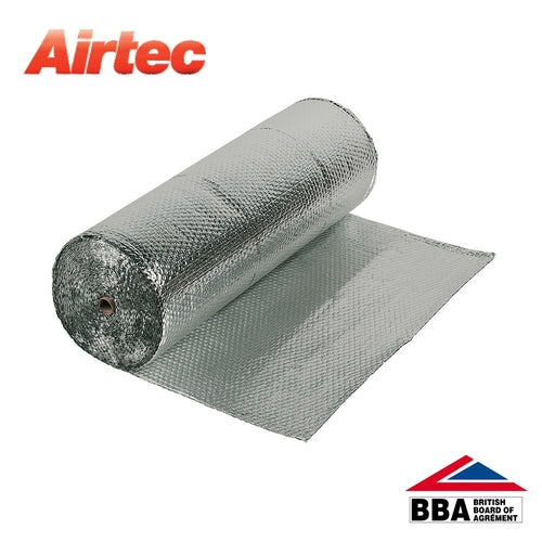 Airtec Single Bubble Double Foil Insulation by YBS - 1.2m x 25m