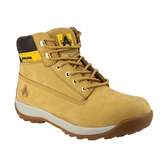 Unisex Safety Boots in Honey FS102 by Amblers - Size 3 to 12