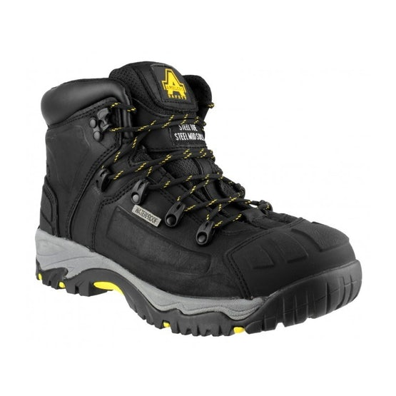 Waterproof Safety Boots in Black FS32 by Amblers - Size 4 to 15