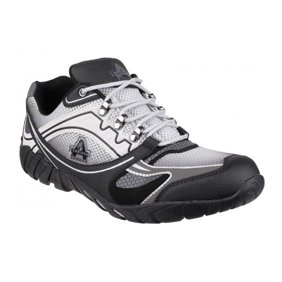 Sporty Safety Trainer in Grey FS702 by Amblers - Size 6 to 12
