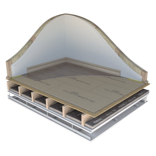 DECKfon 37T CHiP Acoustic Overlay Boards 2.4m x 600mm x 37mm - 77.76m2
