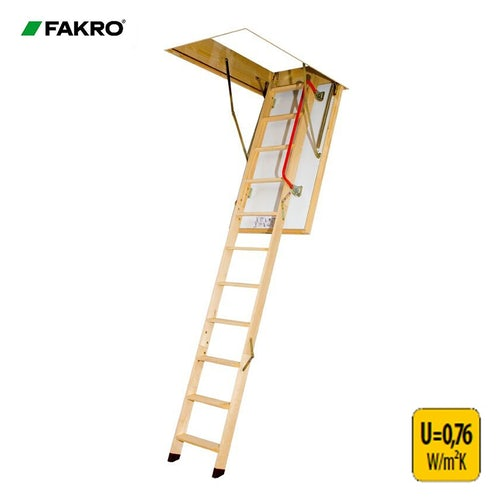 Fakro LTK Thermo Energy Efficient Loft Ladder - 70cm x 140cm x 2.8m