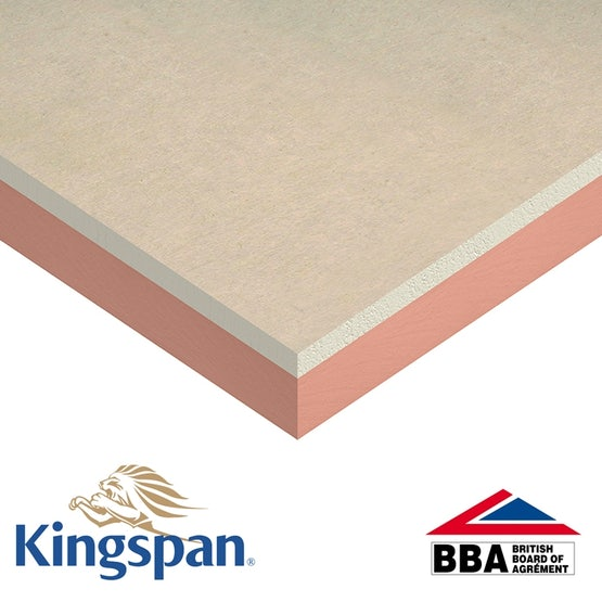Insulated Plasterboard by Kingspan K118 Kooltherm 37.5mm - 60.48m2