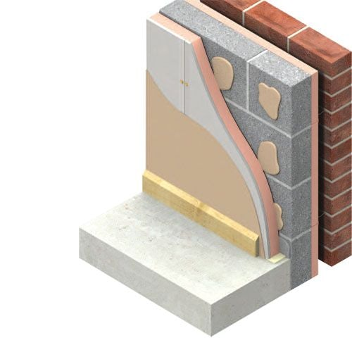 Insulated Plasterboard by Kingspan K118 Kooltherm 57.5mm - 40.32m2