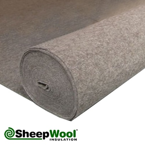 Acoustic SilentWool Floor Insulation with Breather Paper - 25m x 1m
