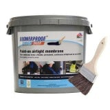 Blowerproof Liquid Brush Membrane in Blue/Black - 5kg