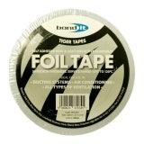 Aluminium Reflective Foil Insulation Tape in Silver from Everbuild - 50mm x 45m