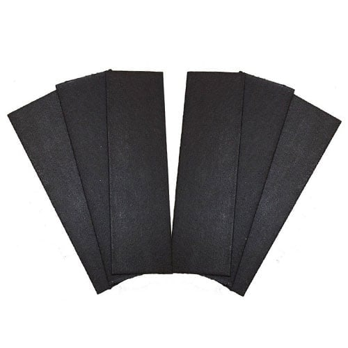 Excel 6 Pack of Black Graphite Intumescent Hinge Pads