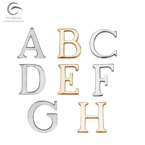 Heritage Brass External House Front Door Letters A-H (51mm)