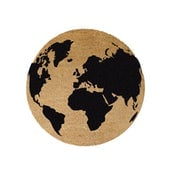 Artsy Globe Circle Coir Doormat Non Slip Indoor Outdoor Mats