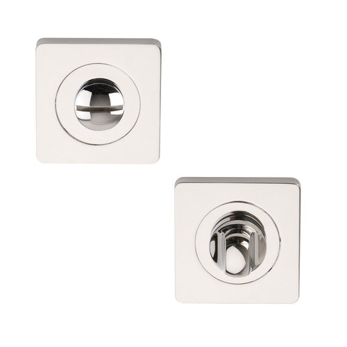 Designer ELECTRA Polished Chrome Square Bathroom Thumbturn & Release Set