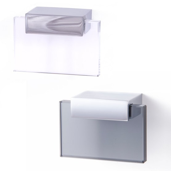 East Coast Expressions SHARD Modern Glass Style Cupboard Door Pull Handle 32mm (CH/CL)