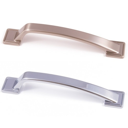 East Coast Expressions Windsor Latch D Style Pull Handle Brushed Nickel (128mm)