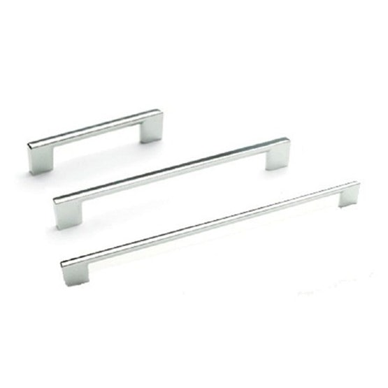 East Coast SLIM SQUARE Chrome D Style Cupboard Door and Drawer Pull Handle (96mm)