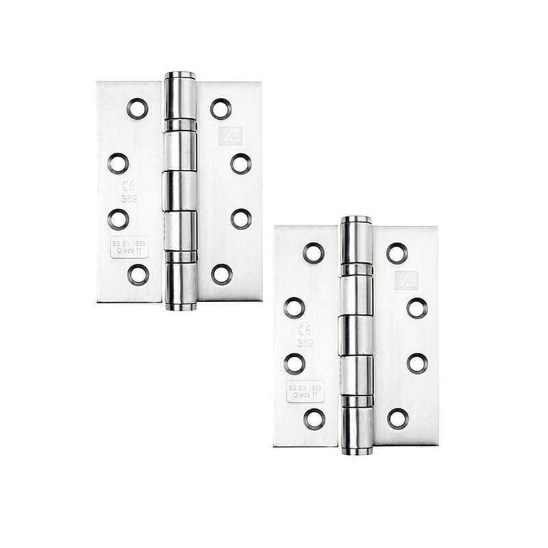 Furniture Hinges Fire Rated Door Hinge 3 76mm Ball Bearing Hinges Polished Chrome Internal Doors