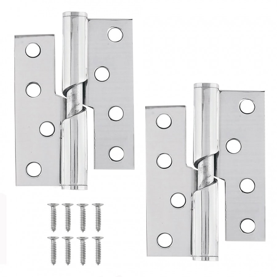 Excel Pair Of Rising Butt Door Hinges 3mm Thick Door