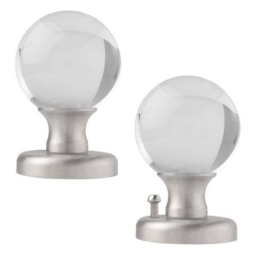 Excel Clear Round Crystal Knobset Passage or Privacy