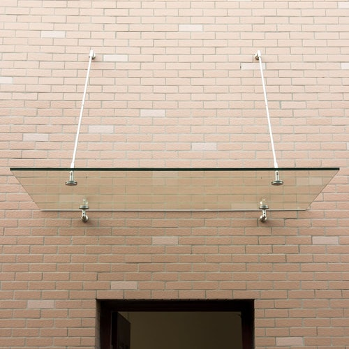 Glass Door Canopy with Grade 304 Stainless Steel Fixings 120cm x 90cm