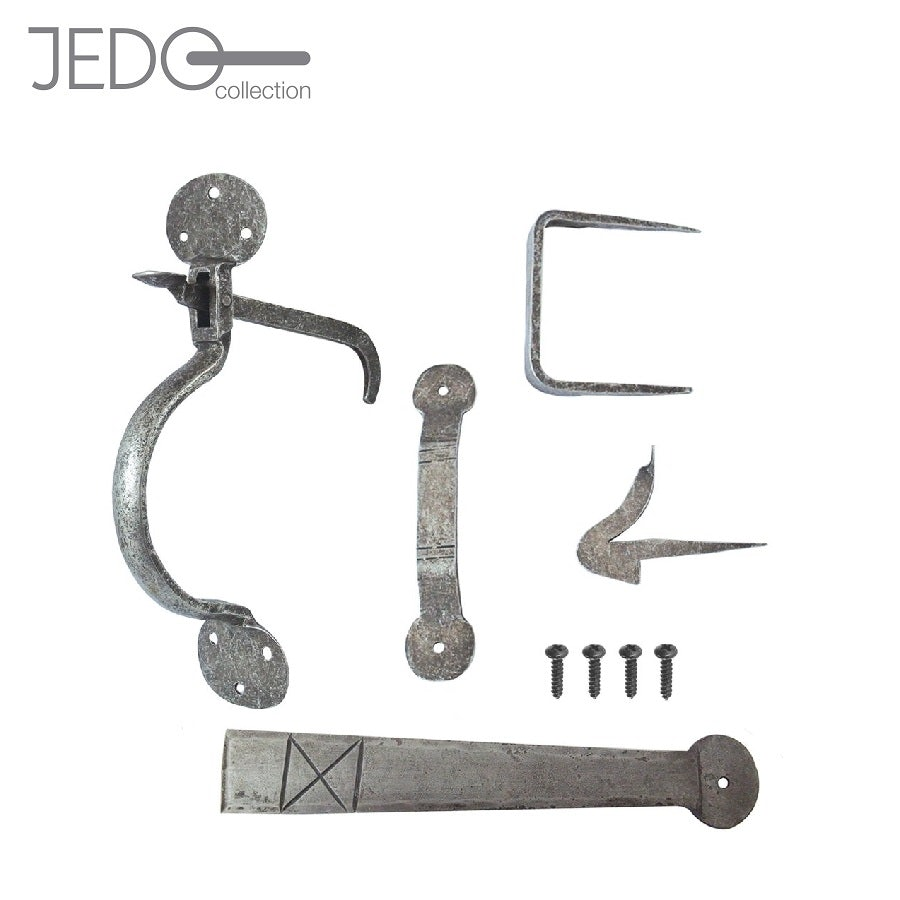 Jedo Hand Forged Suffolk Thumb Latch Door Gate Pewter