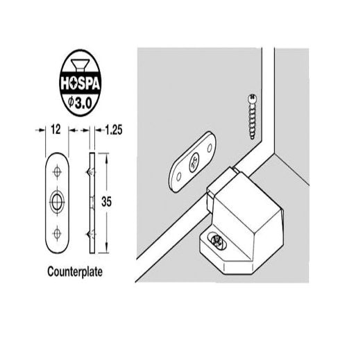 häfele-magnetic-pressure-cabinet-door-catch-and-counterplate-technical